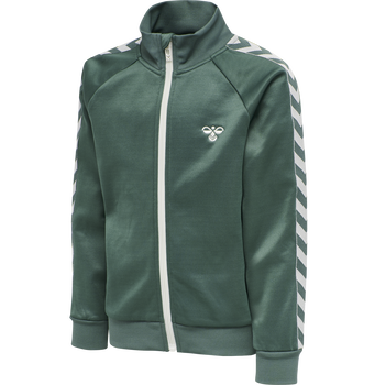 HMLKICK ZIP JACKET, MALLARD GREEN, packshot