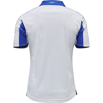 OB 20/21 HOME JERSEY S/S _KIDS, WHITE/LAPIS BLUE UNSPONSORED, packshot