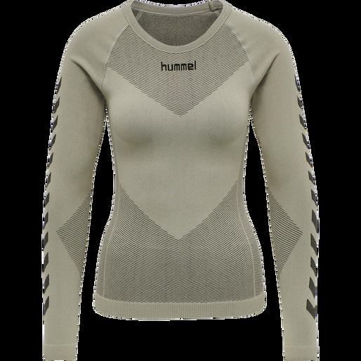 HUMMEL FIRST SEAMLESS JERSEY L/S WOMAN, LONDON FOG, packshot