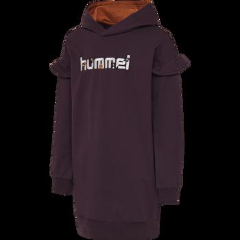hmlAIKO DRESS L/S, BLACKBERRY WINE, packshot