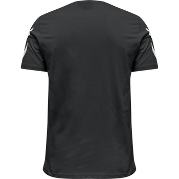 hmlLEGACY CHEVRON T-SHIRT, BLACK, packshot