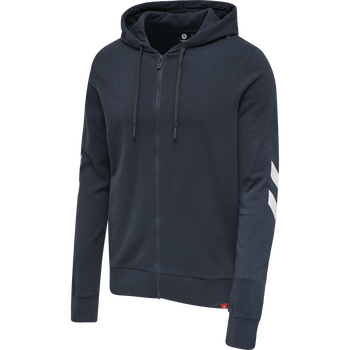 hmlLEGACY ZIP HOODIE, BLUE NIGHTS, packshot