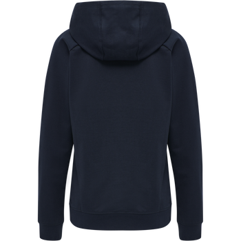 hmlACTION COTTON HOODIE WOMAN, DARK SAPPHIRE/FIESTA, packshot