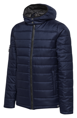 hmlNORTH QUILTED HOOD JACKET KIDS, MARINE, packshot