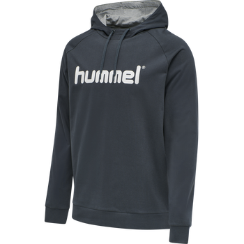 HUMMEL GO COTTON LOGO HOODIE, INDIA INK, packshot
