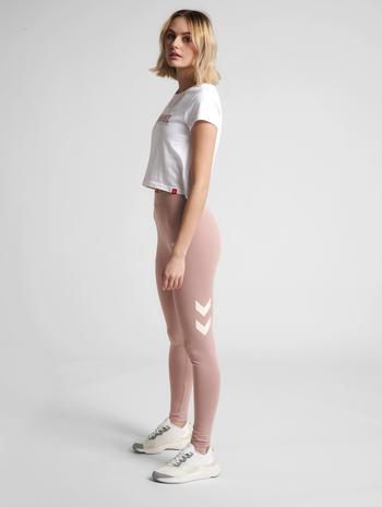 hmlLEGACY WOMAN HIGH WAIST TIGHTS, WOODROSE, model