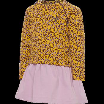 hmlVAIANA DRESS L/S, GOLDEN ROD, packshot