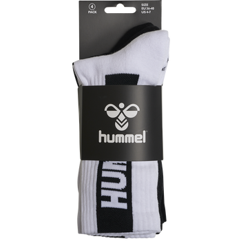 hmlLEGACY CORE 4-PACK SOCKS MIX, WHITE/BLACK, packshot