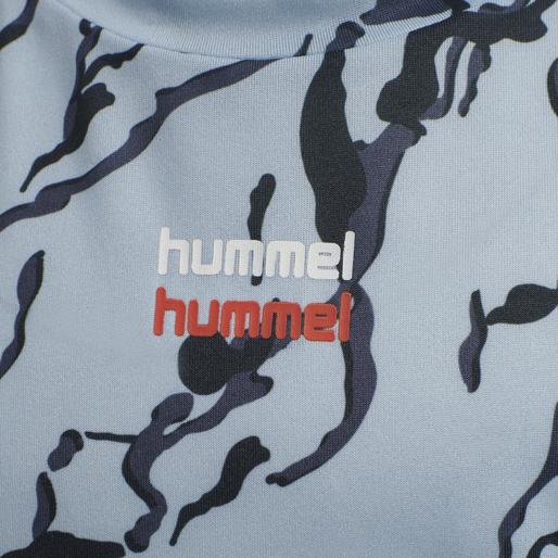 hmlNOAH T-SHIRT S/S, BLUE FOG, packshot
