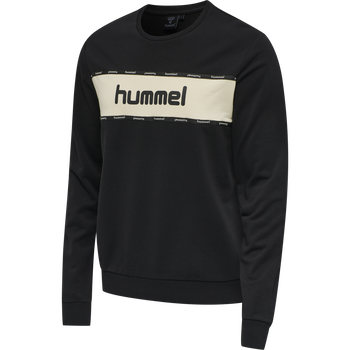 HMLMELAMOUS SWEAT SHIRT, BLACK, packshot