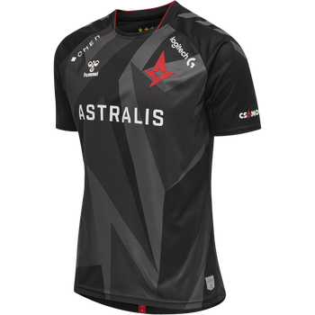 ASTRALIS 20/21 GAME JERSEY S/S_KIDS, BLACK W/LOGO, packshot