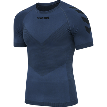 HUMMEL FIRST SEAMLESS JERSEY S/S , DARK DENIM, packshot