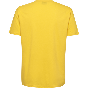 HUMMEL GO KIDS COTTON LOGO T-SHIRT S/S, SPORTS YELLOW, packshot