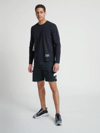 hmlALEC SHORTS, BLACK, model
