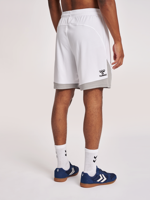 hmlLEAD POLY SHORTS, WHITE, model