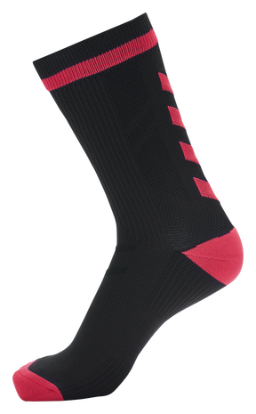 hmlACTION INDOOR SOCK LOW, BLACK/DIVA PINK, packshot