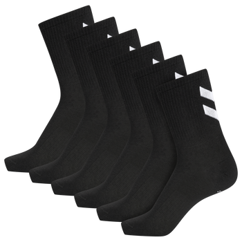 hmlCHEVRON 6-PACK SOCKS, BLACK, packshot